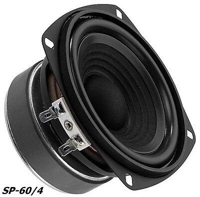 """Monacor SP-60/4 Hifi Bass 100mm 4"""" Bassmitteltöner 10cm"""