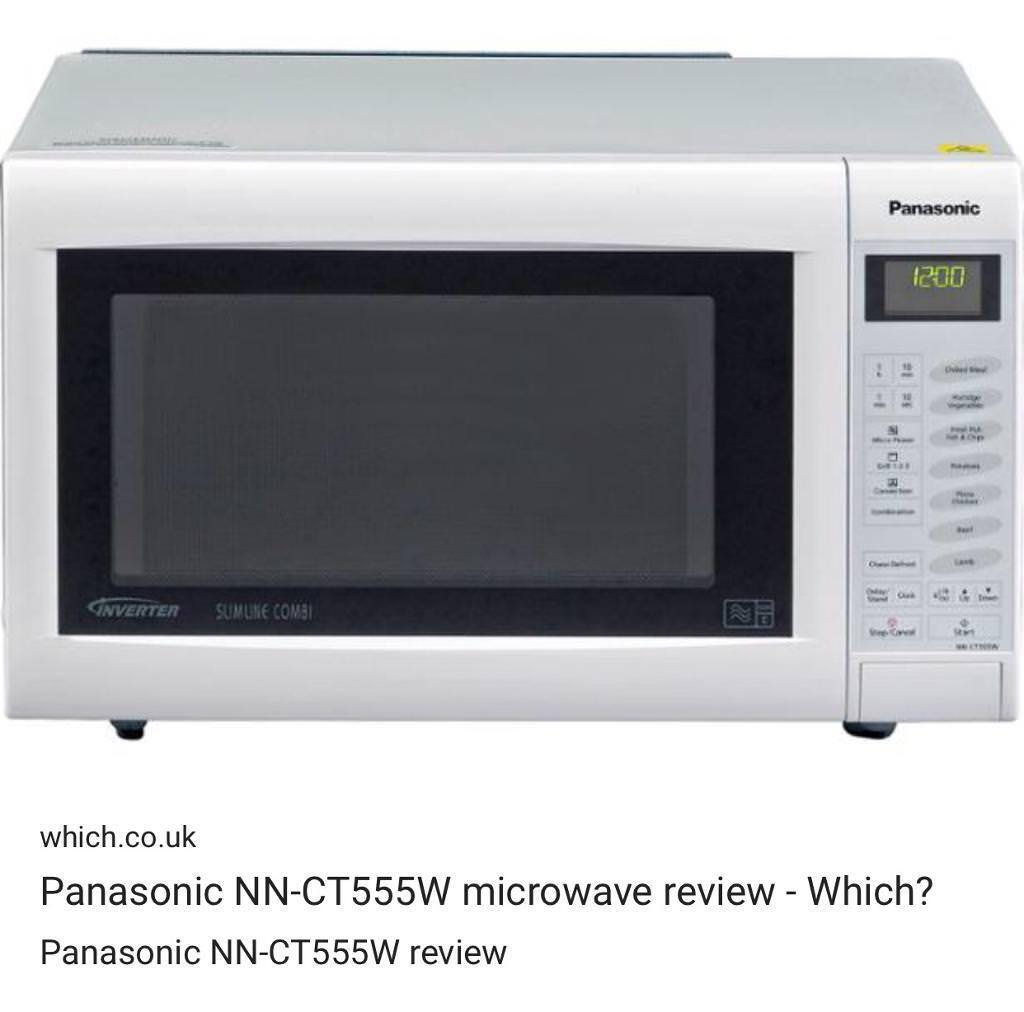 New In Box Panasonic Nn Ct555w 27l 1000w Slimline Combi Microwave White 90 Price