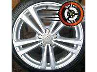"""18"""" Genuine Audi A3 S Line alloys Golf Caddy perfect cond excel tyres."""