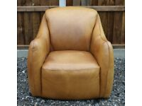 Rare Timothy Oulton Halo Castro Aniline Leather Armchair - Free Delivery