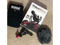 Rode VideoMicro Compact On-Camera Microphone & Rode Microphone case