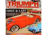 1946 Triumph Roadster concurs condition & magazine featured