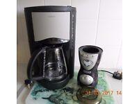COFFEE MACHINE (KENWOOD) AND DELONGHI COFFEE BEAN GRINDER