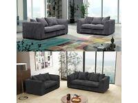 🔥🔥 100% Best Price 🔥🔥!Brand New Dylan Jumbo cord Sofa set in Mink, Brown, Black, Grey And Beige