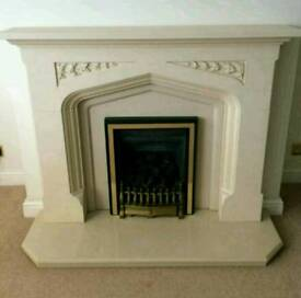 Canterbury style fire surround