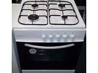 Cookworks 60cm wide gas cooker in white