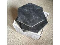 Topps Tiles Bistro Black Tile - 19 tiles