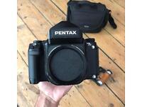Pentax 67 II wooden grip serviced film medium format