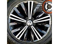 "18"" Genuine VW Tiguan alloys perfect cond new tyres."