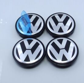 VW Alloy Wheel Centre Caps 65mm x4 Fits Most Volkswagen (Fits: VW)
