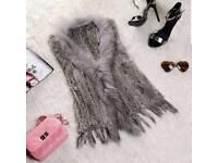 Real rabbit fur gilet