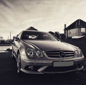 Mercedes CLK200 Sport AMG Silver Coupe