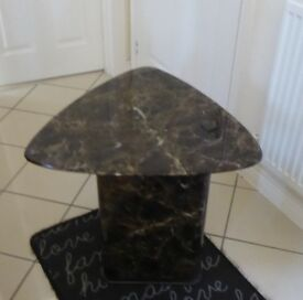 MARBLE TABLE BY ALFRANK DESIGNS LIMITED - LAMP/OCCASIONAL TABLE BLACK EXCELLENT COND £200 NO OFFERS