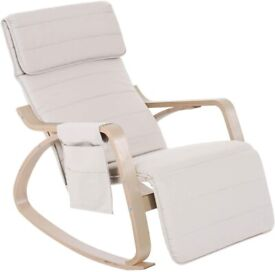 Wooden Rocker Rocking Lounge Chair