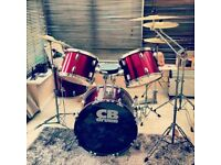 6 piece Red CB drum kit
