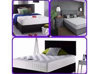 Grey fabric beds mattress headboard
