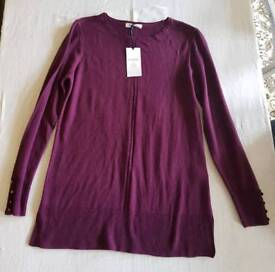M&S classic mulberry coloured jumper BNWT size 10