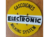 gascoignes rare original advertising milking sign