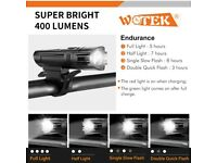 Bike Lights Set USB Rechargeable-Waterproof Cycle Lights with 380LM Front&180LM Rear light
