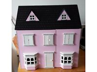 Pink Dolls House with Stairs and Lights