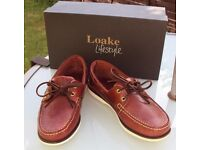 Loake Brown Waxy Leather Boat Shoes - UK 7 F - Only worn a few times - with box