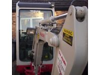 2007 Takeuchi TB016 Mini Digger £9500 No VAT