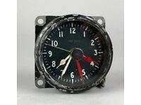 -VINTAGE- WW2 RAF MOD MkII A AIRCRAFT COCKPIT 1 DAY CLOCK DIAL, 6A/1274 12820/42