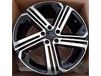 """VW Audi Golf R Style Wheels PCD 5x112 or 5x100 Available in 17"""" 18"""""""