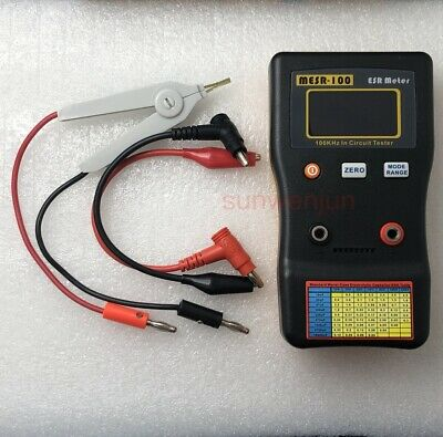Mesr-100 V2 Esrlow Ohm In Circuit Test Capacitor Meter Include Smd Clip Probe