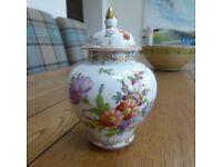 A LOVELY DRESDEN GINGER JAR