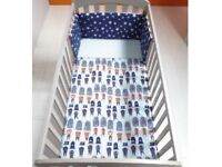 Mamas and papas patternology cotbed bedding set