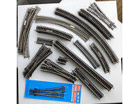 Collection of Hornby & Peco HO/OO model railway track