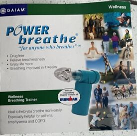 NEW POWER BREATHE TRAINER TO HELP LUNG CONDITIONS BOXED UNUSED ONLY £15 CAN POST