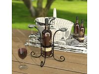 Wine & Bottle & Glass Caddy Holder Drinks Carrier for Camping picnics barbecues entertaining