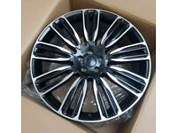 x4 22 Inch Range Rover 9012 Style Alloys Black Pol Vogue Sport Discovery 3 4 5