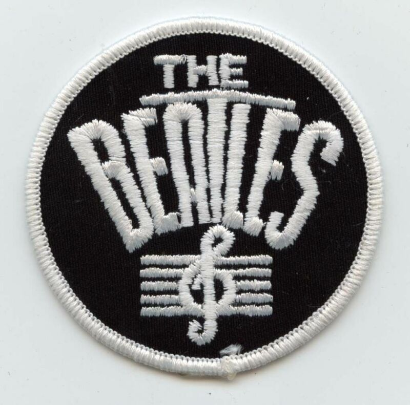 "Vintage Beatles Musical Note 3"" Iron-on Patch MINT"