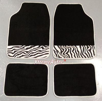 Universal Non slip Full Carpet Animal Zebra Strip Car Mats 4 PCE For All Models