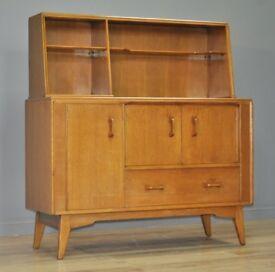 Attractive Retro 1960's G Plan Brandon Oak Tall Sideboard Cabinet
