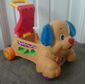 Fisher Price Laugh And Learn Stride To Ride Puppy Dog Push And Ride Baby Walker