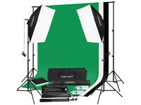 Lighting/Backdrop Kit perfect for vloggers/bloggers/photograhy - BRAND NEW
