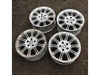 "18"" 5x120 pcd bmw mv2 m sport alloys wheels vw t5 Vauxhall vivaro van"
