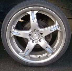 Mania, alloy racing wheel x 4, with Sailun Atrezzo tyres x 4 PRICE DROP!