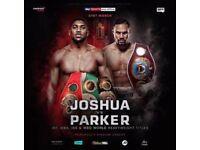 Anthony Joshua Vs Joseph Parker World Heavyweight Boxing Championship Fight Tickets