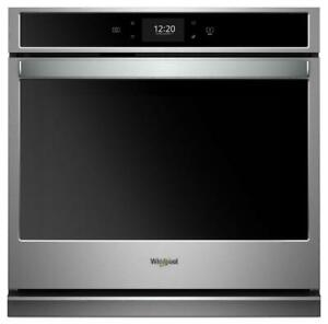 Whirlpool WOS72EC0HS 30 Smart Single Wall Oven with True Convection Cooking  5.0 cu. ft