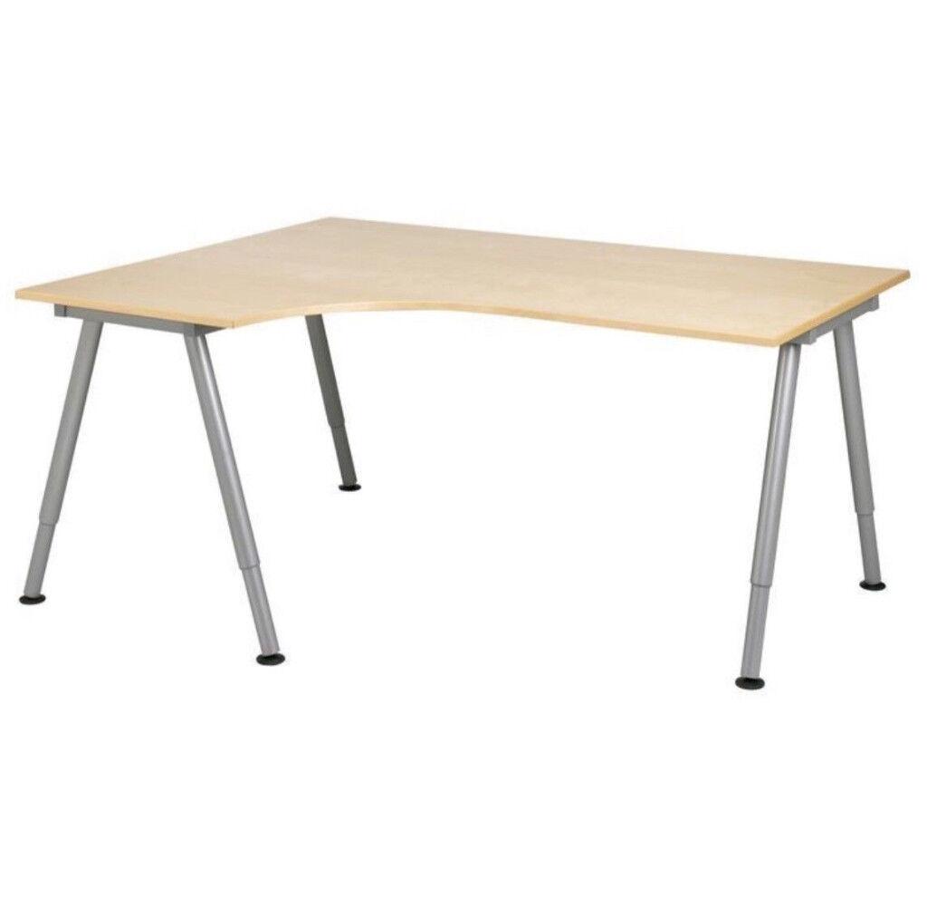 ikea galant corner desk adjustable height in cleckheaton west yorkshire gumtree. Black Bedroom Furniture Sets. Home Design Ideas