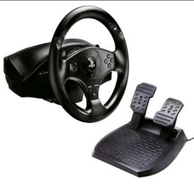 T80 Thrustmaster wheel and pedals opened but never used