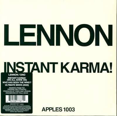 "John Lennon INSTANT KARMA! Limited Edition RSD 2020 New Vinyl 7"" Single"