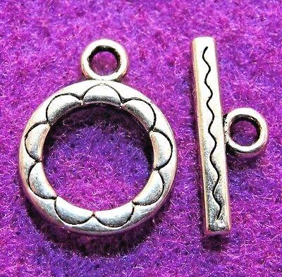Застежки и крючки 10Sets Tibetan Silver