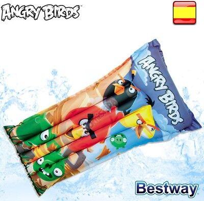 Flotador colchoneta Hinchable para Piscina Playa diversión angry birs
