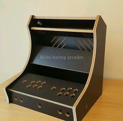 CLASSIC BARTOP ARCADE 2 PLAYER DIY FLAT PACK KIT 18MM BLACK MELAMINE T-MOLD SLOT